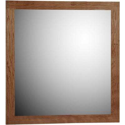 Shaker 30 in. W x .75 in. D x 32 in. H Framed Mirror in Medium Alder