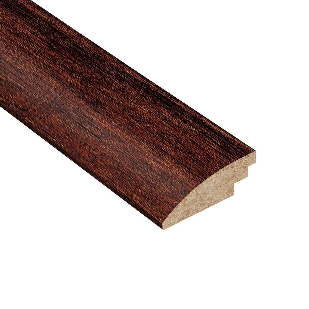 Home Legend Strand Woven Cherry Sangria 3/8 in. Thick x 1-7/8 in. Wide x 78 in. Length Bamboo Hard Surface Reducer Molding