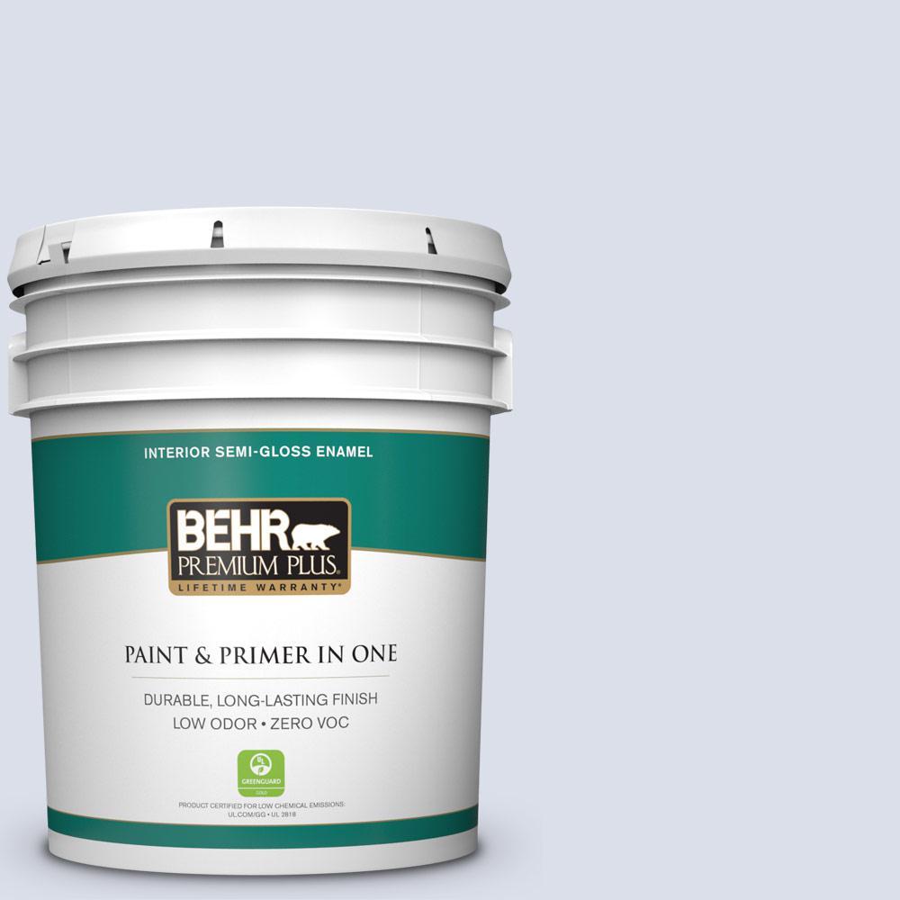 BEHR Premium Plus 5-gal. #620C-1 Winter Ice Zero VOC Semi-Gloss Enamel Interior Paint