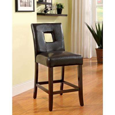 Lisbon II Dark Walnut Contemporary Style Counter Height Chair