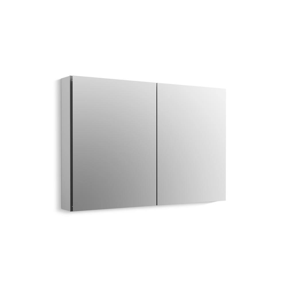 KOHLER CLC 40 in. W x 26 in. H Recessed or Surface Mount Medicine Cabinet in Anodized Aluminum