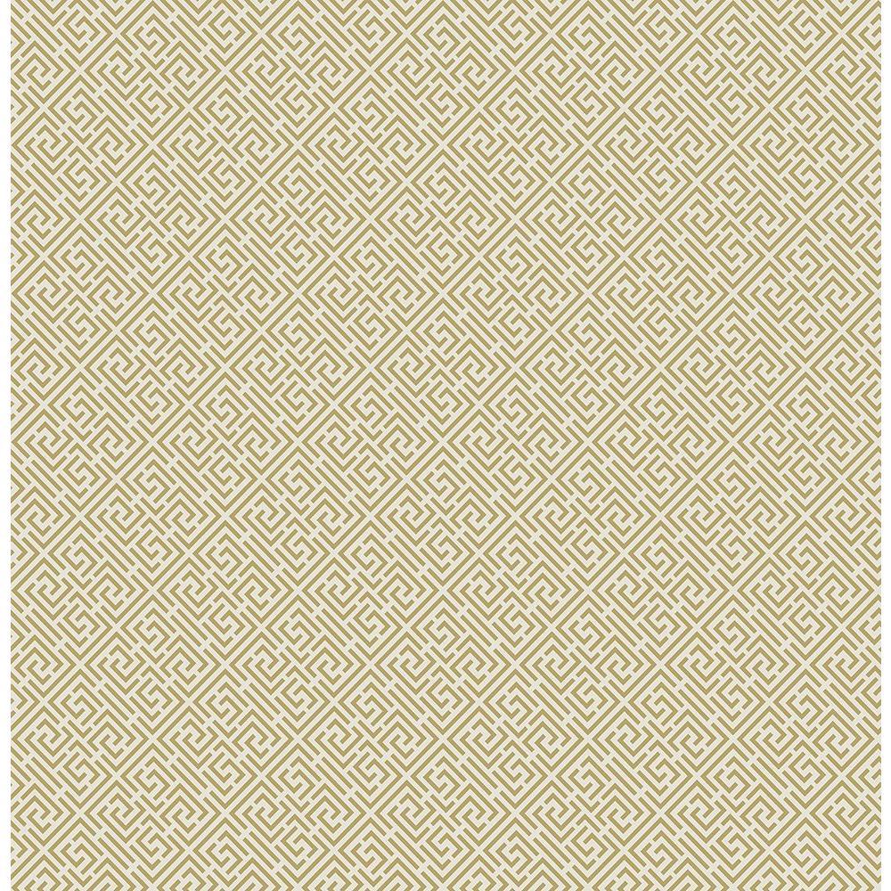 Pavilion Cream Trellis Wallpaper Sample