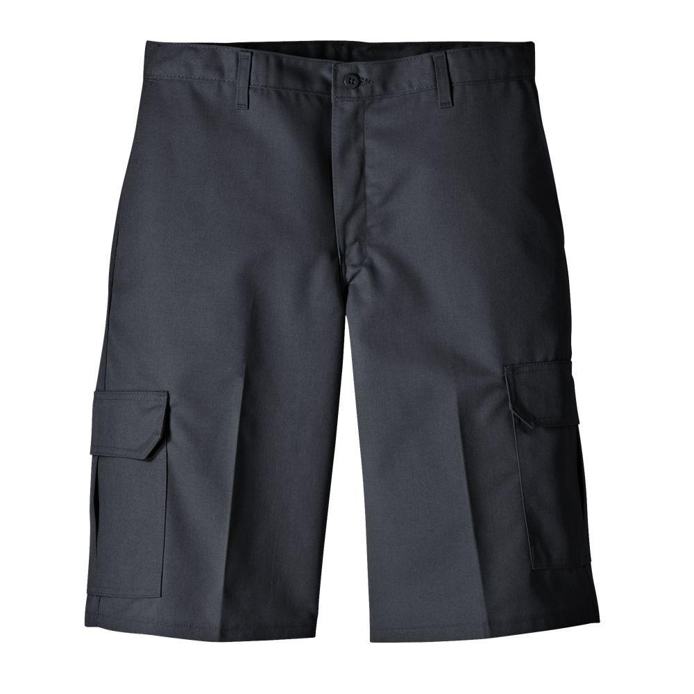 Dickies Relaxed Fit 42 in. x 13 in. Polyester Cargo Short Black-DISCONTINUED
