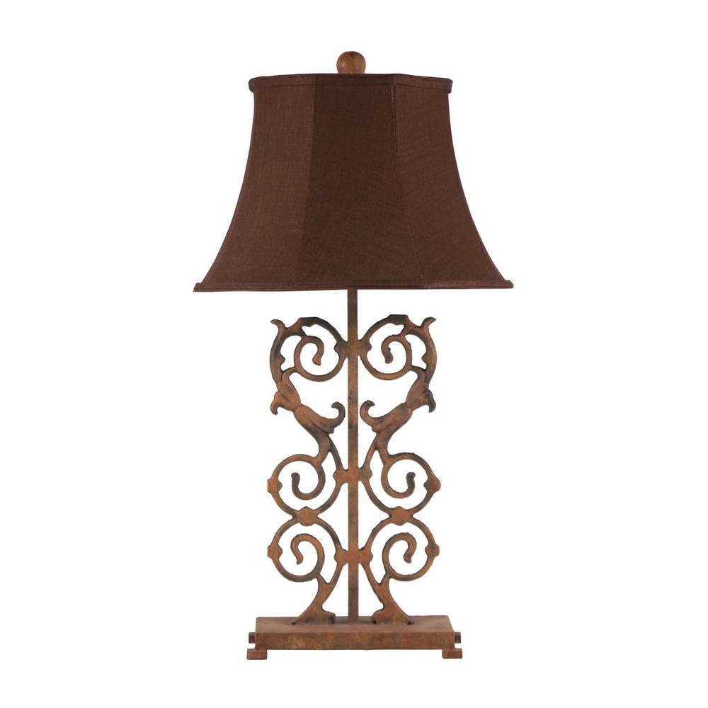 Titan Lighting 32 in. Fluted Iron Trumpet Lamp-DISCONTINUED