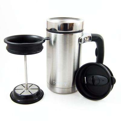Desk Press 3-Cup French Press in Stainless Steel