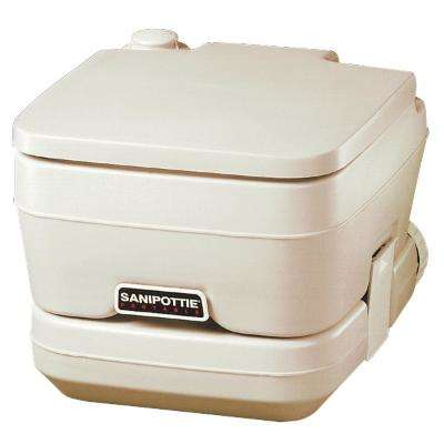 2.5 Gal. SaniPottie Portable Toilet with Mounting Brackets and 1.5 in. MSD Fittings in Tan