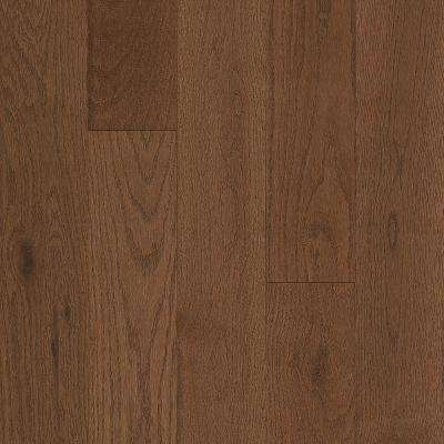 Take Home Sample - Oak Oakleaf Brown Solid Hardwood Flooring - 5 in. x 7 in.