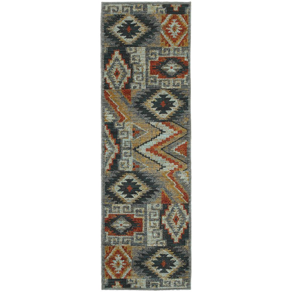 Home Decorators Collection Fremont Multi 2 ft. x 8 ft. Runner Rug
