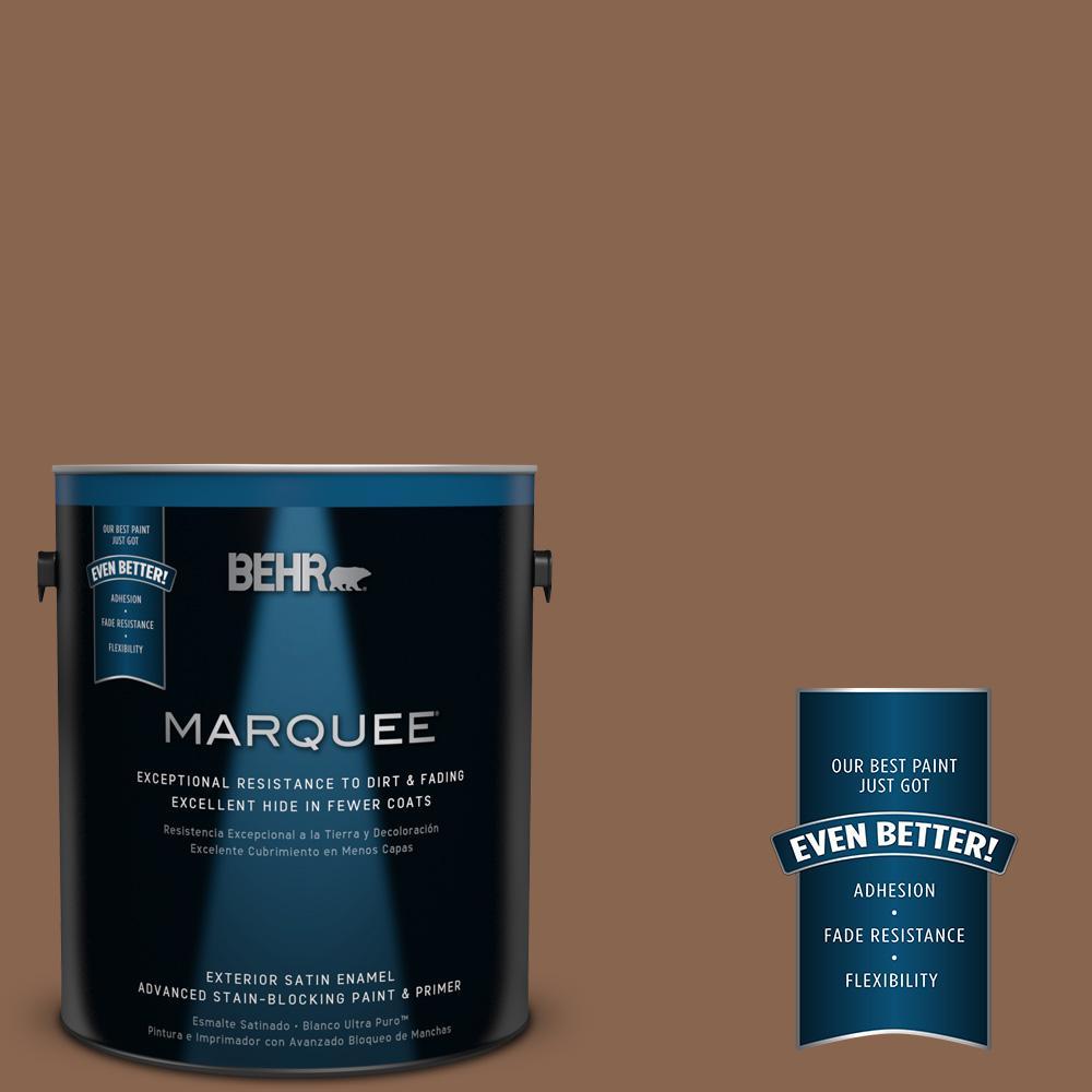 1-gal. #S220-7 Molasses Satin Enamel Exterior Paint