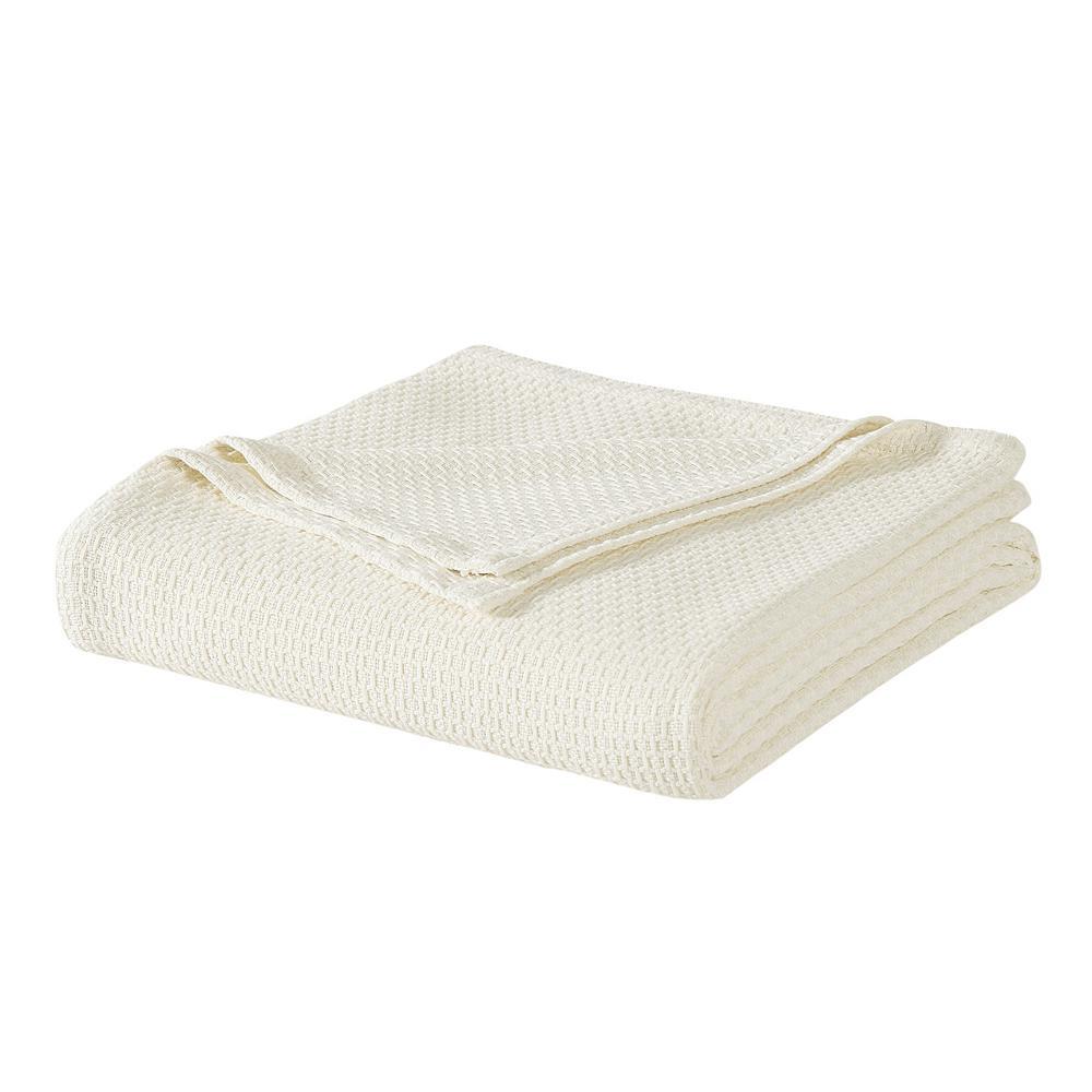 Ivory Cotton King Blanket