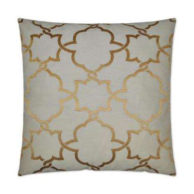 Carlton Gold Feather Down 24 in. x 24 in. Standard Decorative Throw Pillow