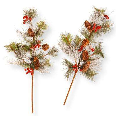 26 in. Pine Cone Branch Spray Set