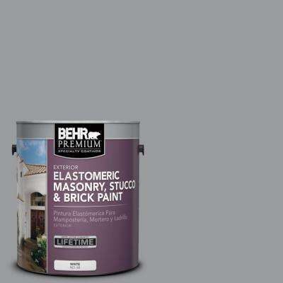 1 Gal. #MS-82 Cobblestone Grey Elastomeric Masonry, Stucco and Brick Exterior Paint