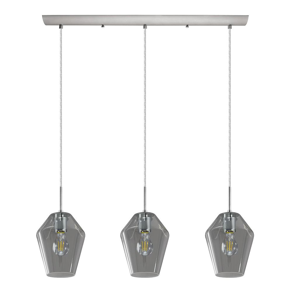 with duo multidrop smoked p light chrome drop pendant gla multi