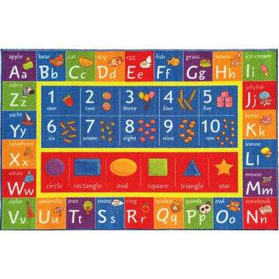 Multi-Color Kids and Children Bedroom ABC Alphabet Numbers and Shapes Educational Learning 5 ft. x 7 ft. Area Rug