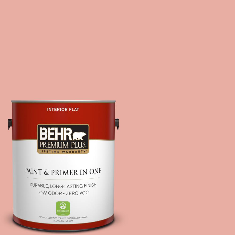 BEHR Premium Plus 1-gal. #180C-3 Rose Linen Zero VOC Flat Interior Paint