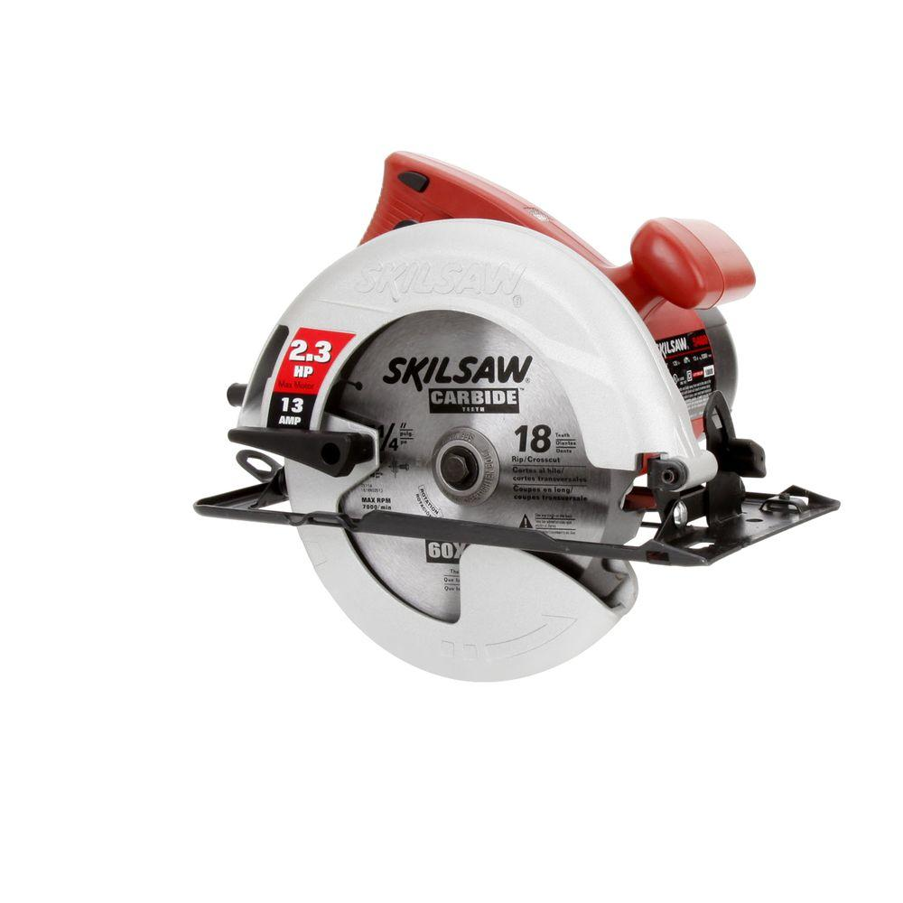 Skil 13 Amp Corded Electric 7-1/4 in. Circular Saw with 18-Tooth Carbide Blade
