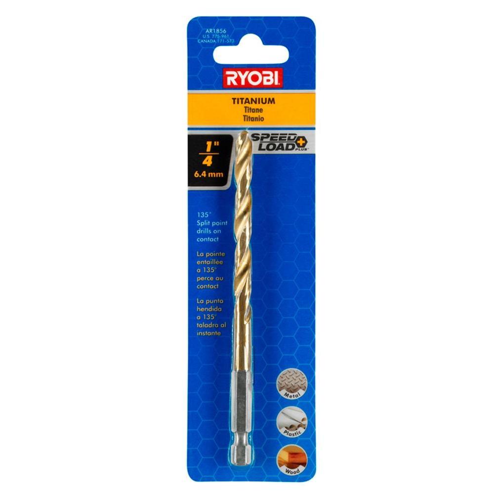 Ryobi 1/4 in. Titanium Coated Drill Bit