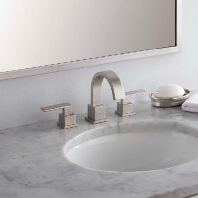 Vero 8 in. Widespread 2-Handle Bathroom Faucet with Metal Drain Assembly in Stainless