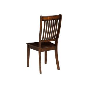 Outstanding Espresso Brown Acacia Wood Side Chairs With Slatted Back Set Of 2 Uwap Interior Chair Design Uwaporg