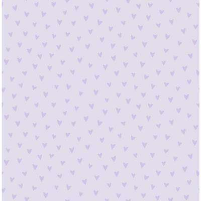 Kids Sparkle Heart Lilac Glitter Wallpaper