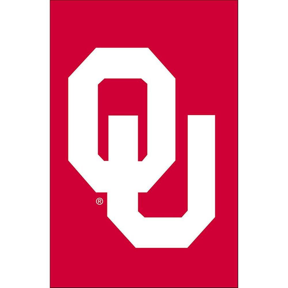 NCAA 12-1/2 in. x 18 in. Oklahoma 2-Sided Garden Flag