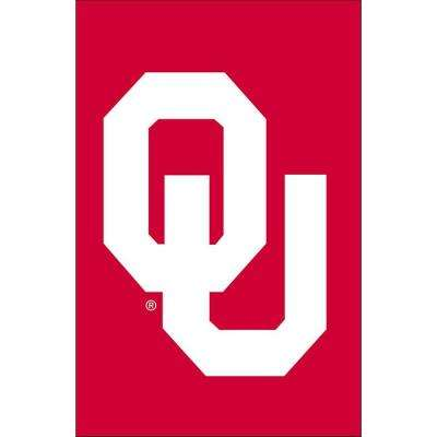 NCAA 12-1/2 in. x 18 in. Oklahoma 2-Sided Garden Flag