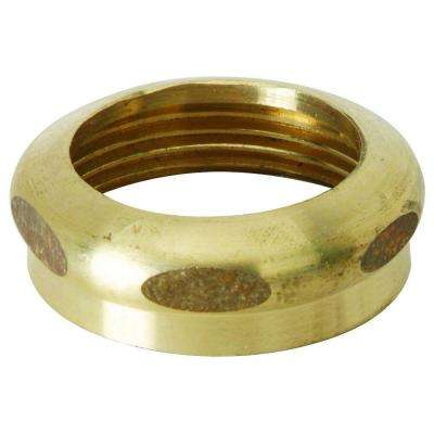 1-1/4 in. O.D. Compression x 1-1/4 in. FIP Brass Slip Nut with Rough Finish