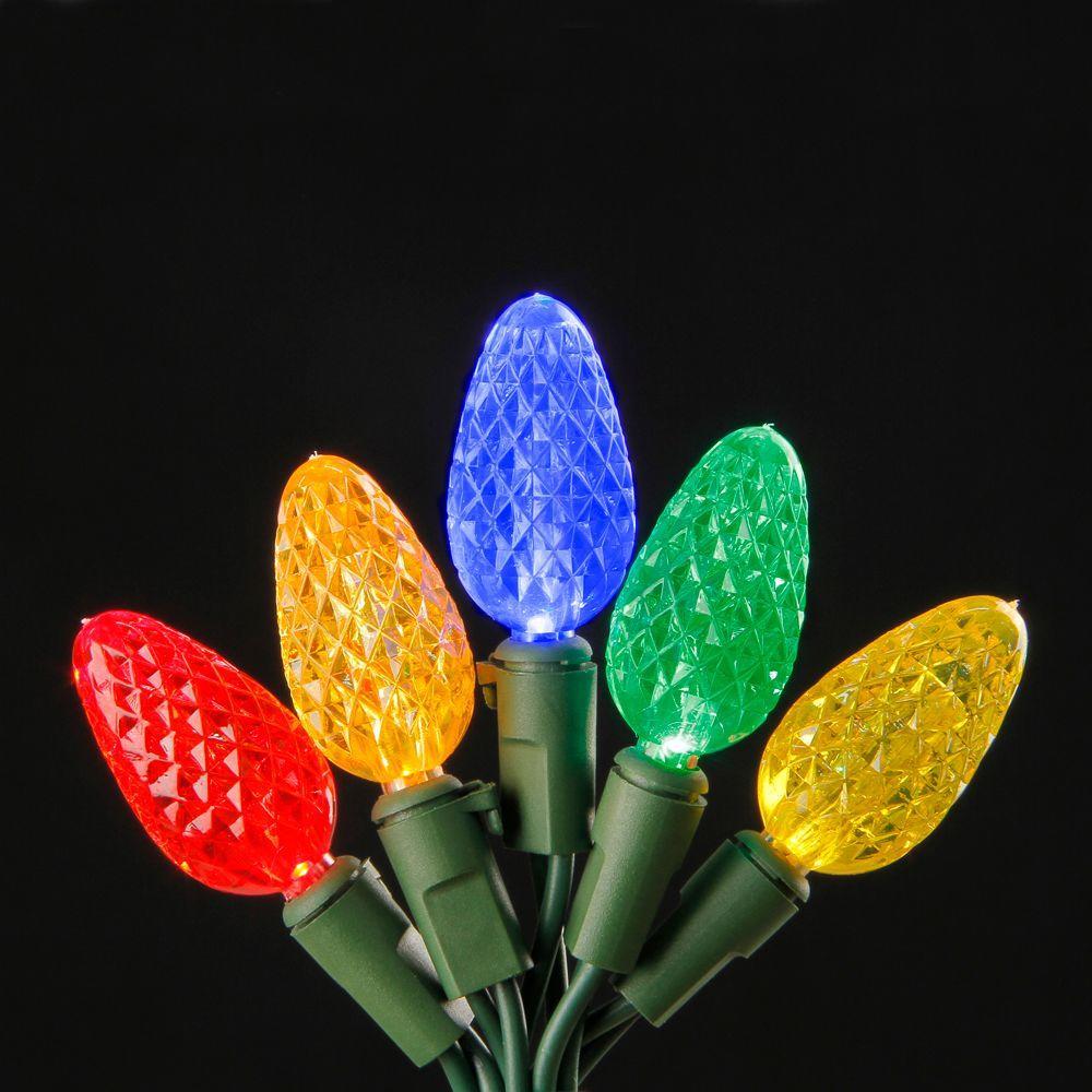 150-Light LED Multi-Color C6 Light Set on Spool