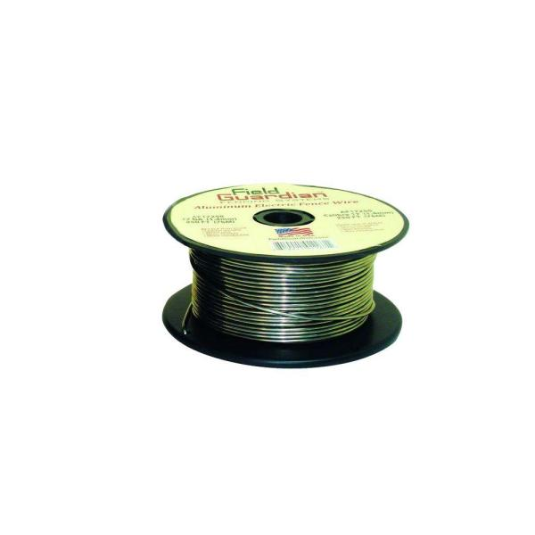 "Fi-Shock Electric Fence Wire 250/"" Aluminum FW-00018D 1 Pack 17 Gauge Spool"