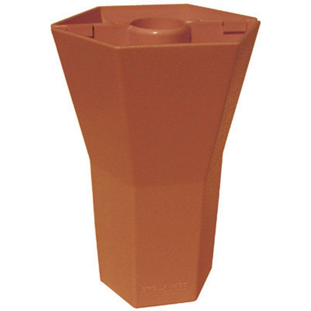 Brella Vase 10 in. Patio Umbrella Vase in Opaque Terra Cotta (Set of 4)-DISCONTINUED