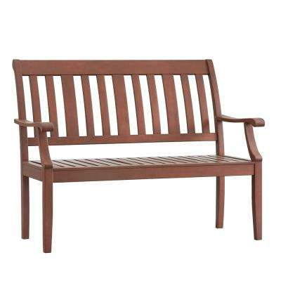 Verdon Gorge 45 in. Brown Wood Outdoor Bench