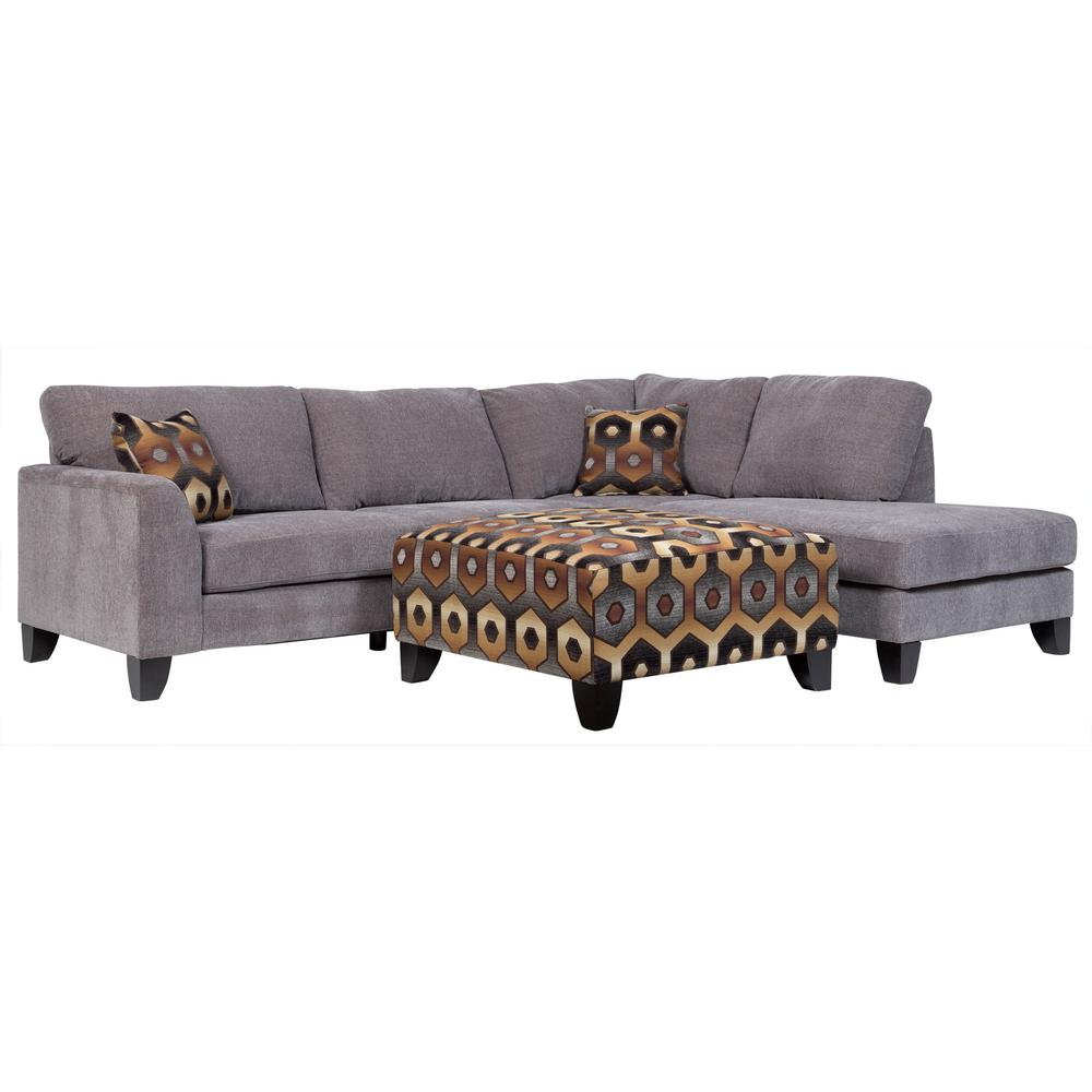 Monza Modern Gray Sectional With Accent Ottoman 01 33c 05 1897k