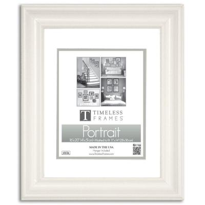 Timeless Frames Lauren 1 Opening 16 In X 20 Pure White Matted Picture Frame 51011 The Home Depot