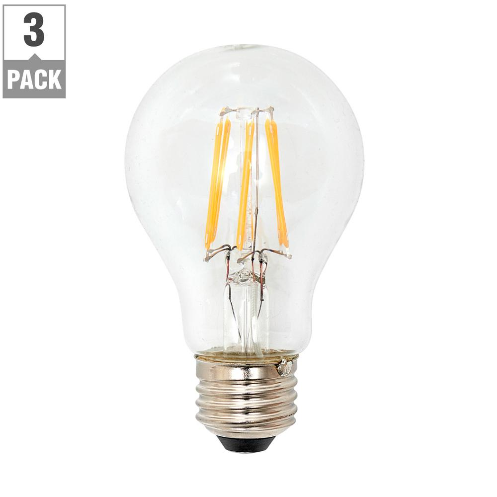 Lighting Science 60-Watt Equivalent A19 General Purpose Dimmable Clear Glass Filament LED Light Bulb  sc 1 st  Home Depot & Lighting Science 60-Watt Equivalent A19 General Purpose Dimmable ...