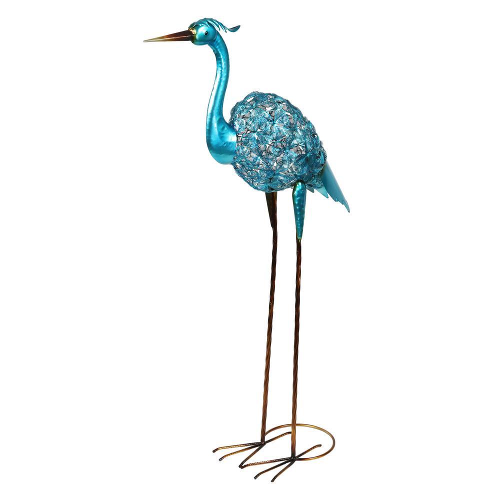 Blue Crane Garden Statue