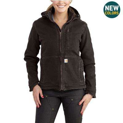 Women's Small Dark Brown/Shadow Sandstone Full Swing Caldwell Duck Jacket