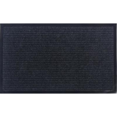 Otto Grip Collection Gray 18 in. x 30 in. PVC Backing Solid Indoor/Outdoor Doormat