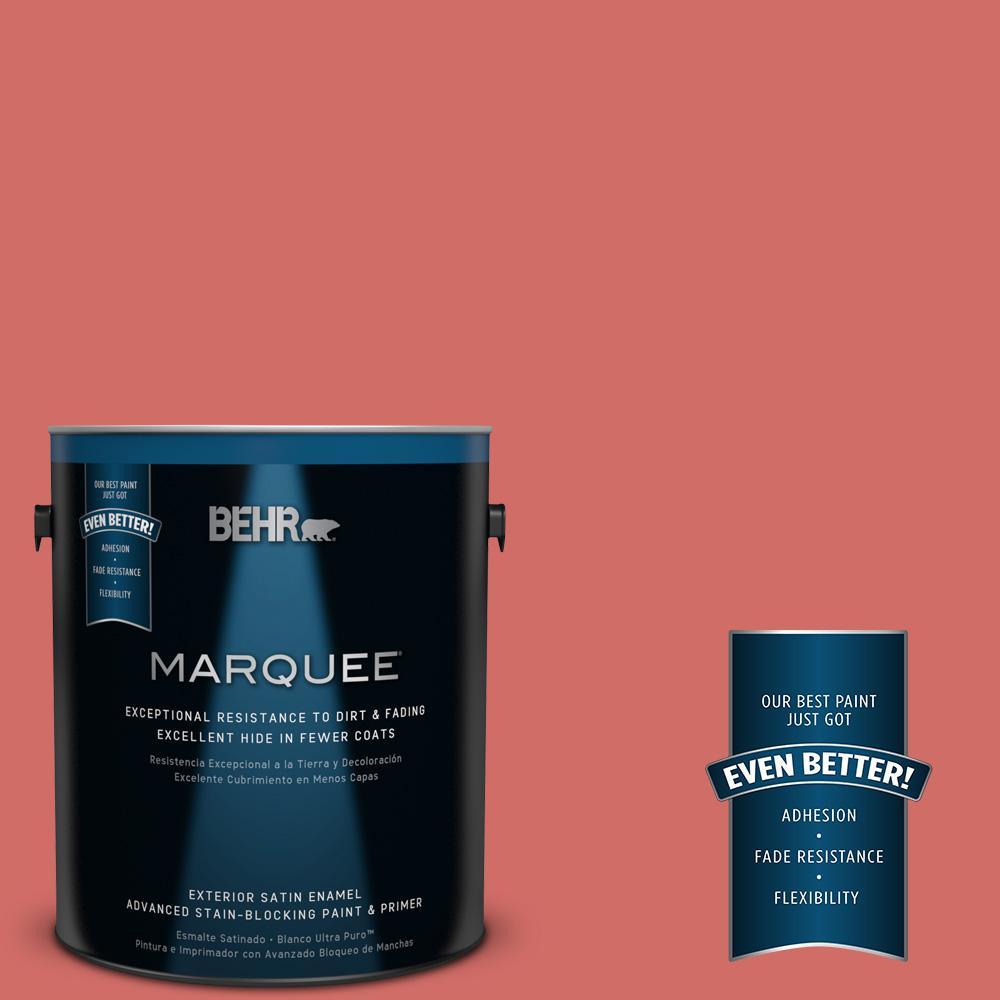 1 gal. #M160-6 Matador's Cape Satin Enamel Exterior Paint and Primer