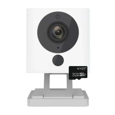 Wireless 1080p Indoor Wi-Fi Security Camera, 32GB Card, Alexa and Google Enabled Free 14-Day Cloud Storage Night Vision