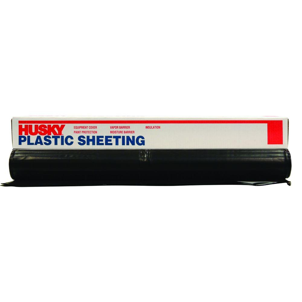 12 ft. x 50 ft. Black 4 mil Plastic Sheeting