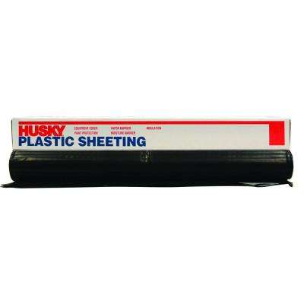 12 ft. x 50 ft. Black 4 mil Plastic Sheeting