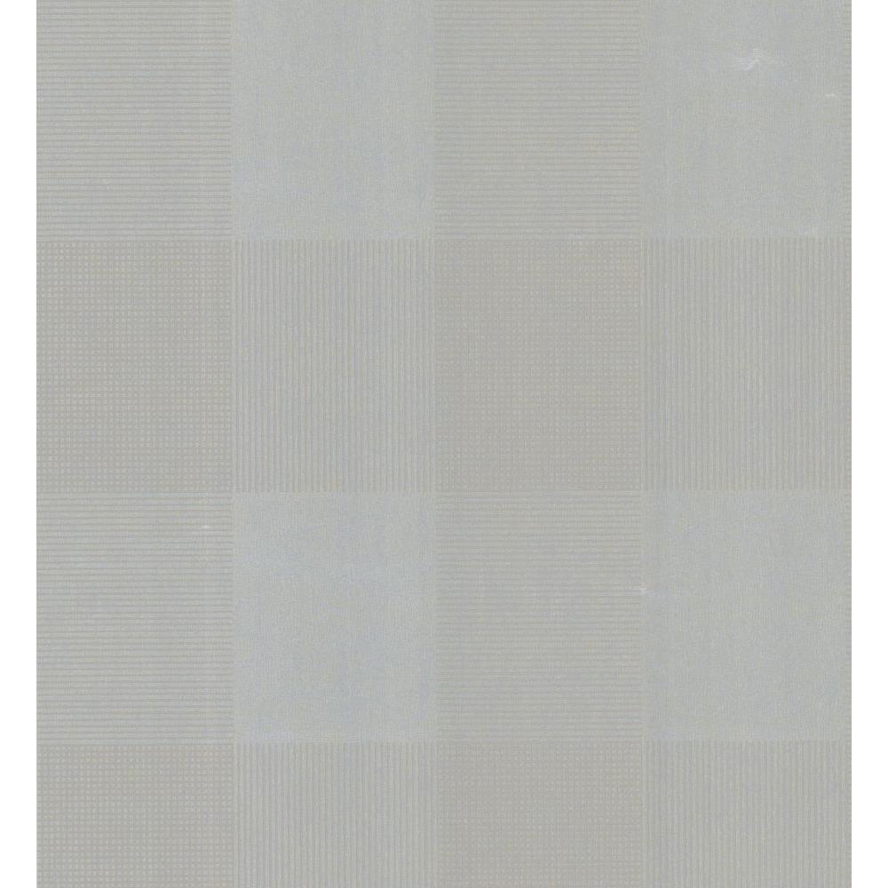 Brewster Bath Bath Bath III Gray Geometric Plaid Wallpaper Sample