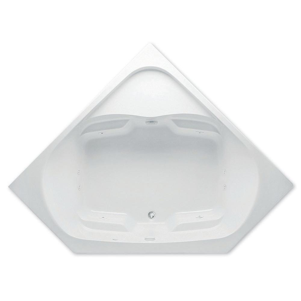Aquatic Cavalcade 5 ft. Center Drain Acrylic Whirlpool Bath Tub Pump Location 2 in White