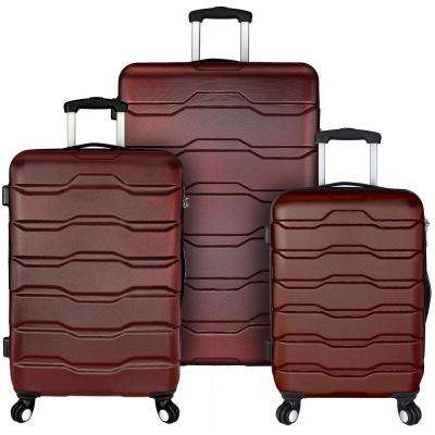 Omni 3-Piece Hardside Spinner Luggage Set, Red