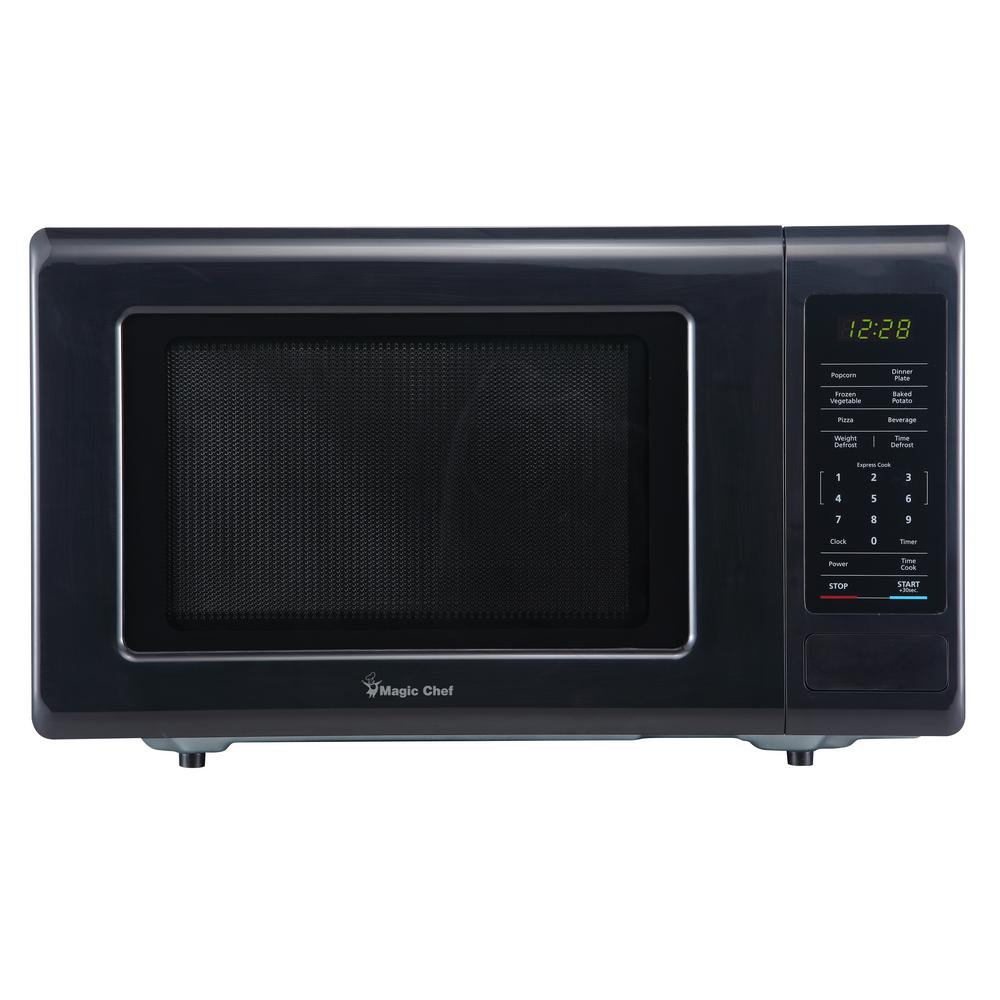 Magic Chef 0.9 cu. ft. Countertop Microwave in Black with Gray Cavity