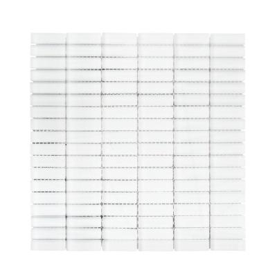 Ice Stax 11.50 in. x 11.875 in. Linear Matte Glass Mosaic Tile