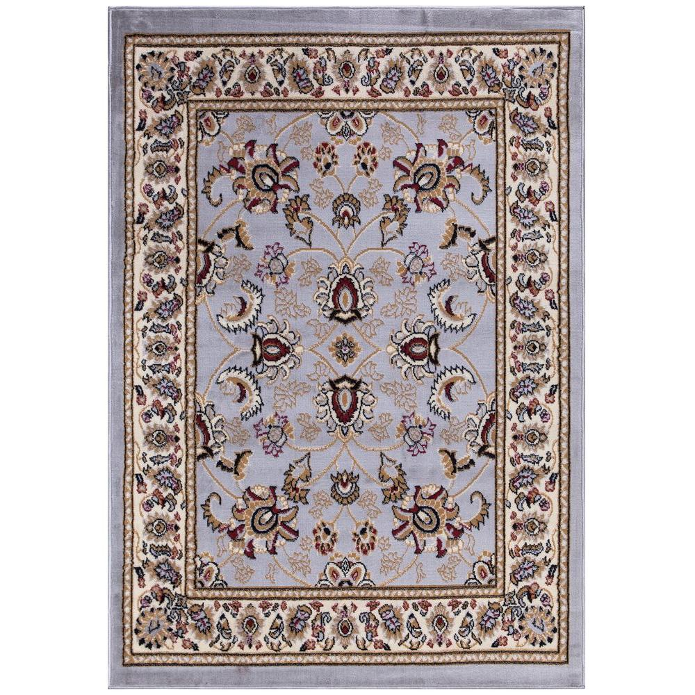 ottomanson traditional oriental gray 5 ft x 7 ft area rug ptr1603 5x7 the home depot. Black Bedroom Furniture Sets. Home Design Ideas