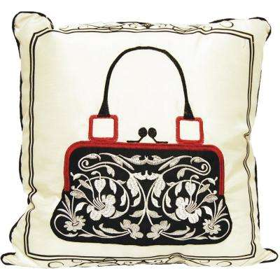 Handbag Embroidery Decorative Pillow