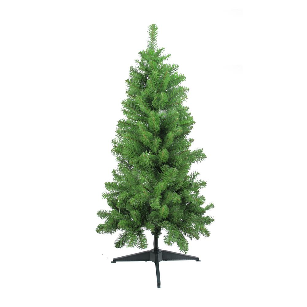 4 ft. x 25 in. Traditional Noble Fir Medium Artificial Christmas ...